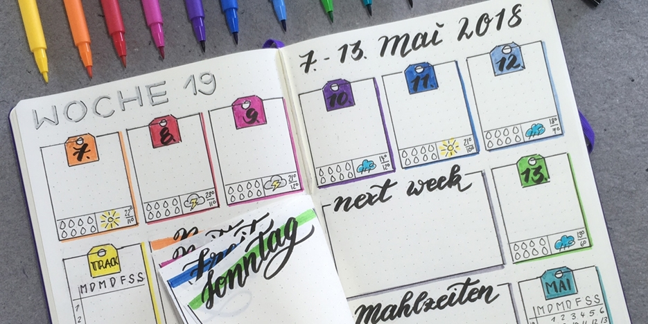 Impressionen: Bullet Journal Workshop bei Krebser in Thun vom 7. November 2018